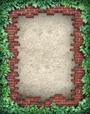 Rustic Broken Brick Frame Stock Photo