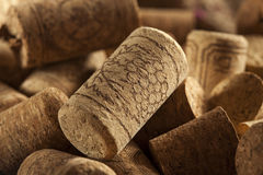 Rustic Brown Wine Corks Stock Photos