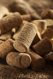 Rustic Brown Wine Corks. In a large group Royalty Free Stock Images