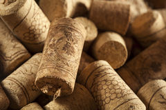 Rustic Brown Wine Corks Royalty Free Stock Photos