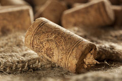 Rustic Brown Wine Corks. In a large group Royalty Free Stock Photography