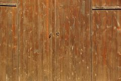 Rustic Brown Wood Plank Door Or Gate Horizontal Background stock photos