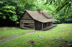 Rustic Cabin. A cabin found in the Smoky Mountains Stock Images