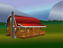 Rustic Cabin. Sits in a clearing for that retirement or camping or secluded get away Royalty Free Stock Image