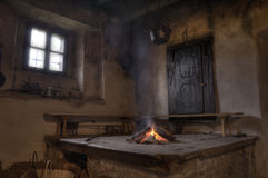 Rustic cabin interior Royalty Free Stock Image