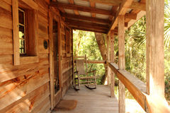 Rustic Cabin Porch Royalty Free Stock Photography