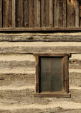 Rustic cabin window Royalty Free Stock Photo