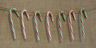 Rustic Candy Canes Stock Images