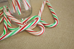 Rustic Candy Canes Royalty Free Stock Images