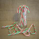 Rustic Candy Canes Stock Photos