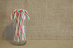 Rustic Candy Canes Stock Image