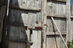 Rustic castle door royalty free stock photography