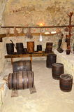 Rustic cellar. Image of a rustic traditional cellar royalty free stock images