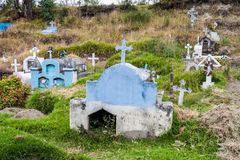 Rustic cemetery. In Chugchilan village, Ecuador. This village lies on popular Quilotoa loop royalty free stock photo