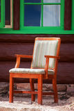 Rustic Chair Stock Photo