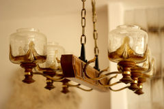 Rustic Chandelier with Chain Stock Images
