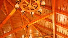 Rustic chandelier stock video