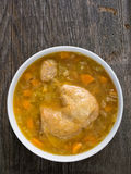 Rustic chicken soup Stock Photography