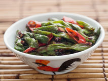 Rustic chinese long snake bean stir fry Royalty Free Stock Photography