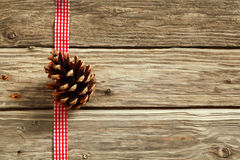 Rustic Christmas background Stock Photography