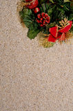 Rustic christmas background Royalty Free Stock Photo