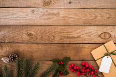 Rustic Christmas background Stock Images