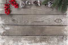 Rustic Christmas background Royalty Free Stock Images