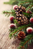 Rustic christmas decoration Stock Image
