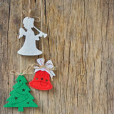 Rustic christmas decoration Stock Photo