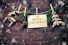 Rustic Christmas decoration Stock Photo