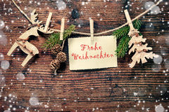 Rustic Christmas decoration Royalty Free Stock Photo