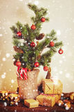 Rustic Christmas decorations Royalty Free Stock Photos