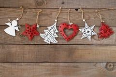 Rustic Christmas decorative, Xmas ornament Stock Images