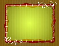 Rustic Christmas Paper Border Frame Stock Image