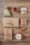 Rustic Christmas Presents Stock Photography