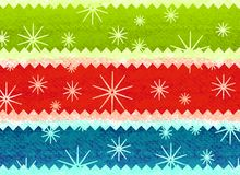 Rustic Christmas Print Pattern Stock Images