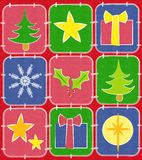 Rustic Christmas Quilt Background 2 Royalty Free Stock Photography