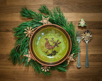 Rustic Christmas Set Royalty Free Stock Photos