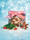 Rustic Christmas still life Royalty Free Stock Photography