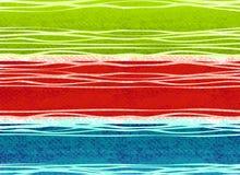 Rustic Christmas Stripes Print Stock Photo