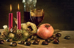 Rustic Christmas stock image