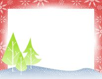 Rustic Christmas Tree Border Royalty Free Stock Photos