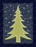 Rustic Christmas Tree Card Royalty Free Stock Photography