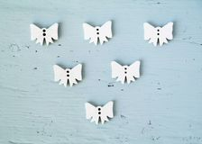 Group of white bows or angels, Christmas concept royalty free stock photos