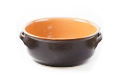 Rustic clay pot Stock Photography
