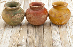 Rustic clay pots Stock Images