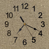 Rustic clock for background Stock Images
