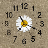 Rustic clock for background Royalty Free Stock Images