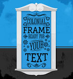 Rustic Colonial Frame vector illustration. Ready to place your text or design - eps available Stock Images