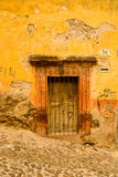 Rustic Colonial Mexico. Rustic colonial building on a hillside street in old Mexico stock photos